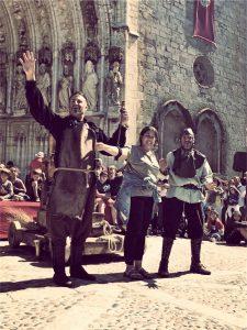Felix Brunet Espectacle medieval al carrer
